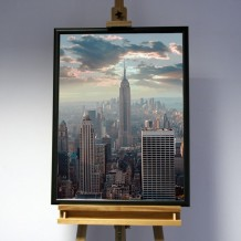 3D-Bild: New York City | Empire State Building, Big Apple, Amerika