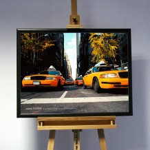 3D-Bild: Yellow Cab | Taxi, Amerika, New York City, NY, USA