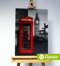 3D-Bild: Telefonzelle in London (Classic) | Big Ben, England, Great Britain, Themse
