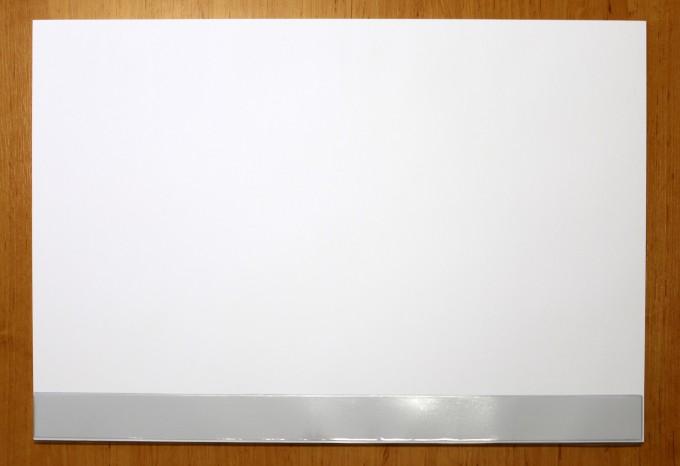 schreibtischunterlage papier mit schutzleiste blanko wei. Black Bedroom Furniture Sets. Home Design Ideas